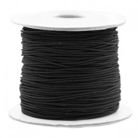 Gekleurde elastische draad 0.8mm Black