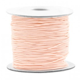 Gekleurde elastische draad 0.8mm Light peach