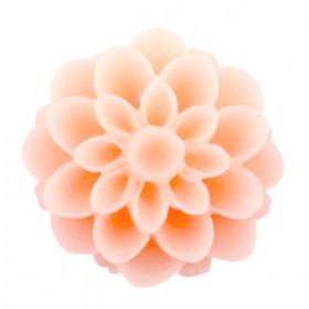 Dahlia bloem kralen 14mm matt Peach orange