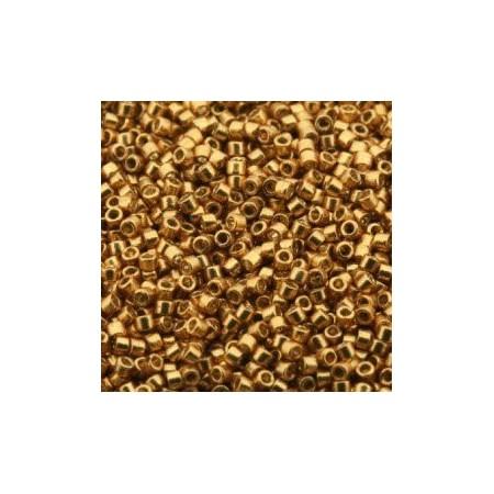 Miyuki Delica 11/0 Duracoat Galvanized Gold
