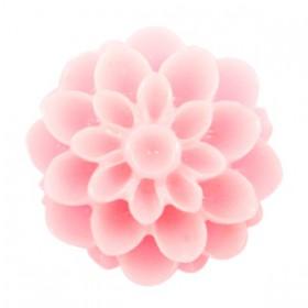Dahlia bloem kralen 14mm shiny Pink rose
