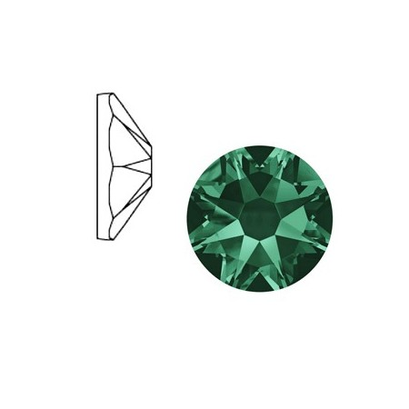 Swarovski Elements 2088-SS34 flatback Xirius Rose Emerald green
