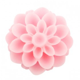 Dahlia bloem kralen 14mm matt Pink rose