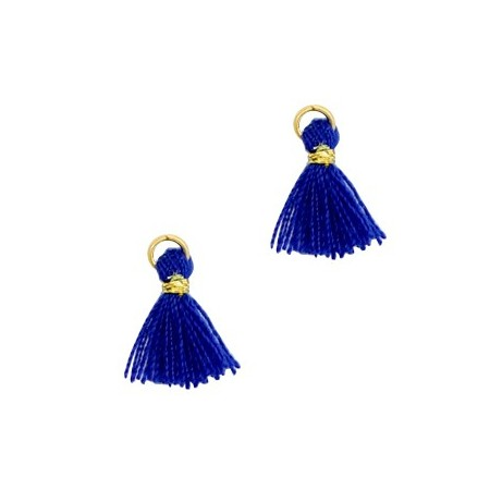 Kwastjes 1cm Goud Clematis blue