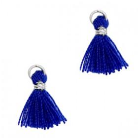 Kwastjes 1cm Zilver Clematis blue