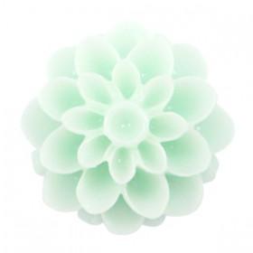 Dahlia bloem kralen 14mm shiny Light mint green