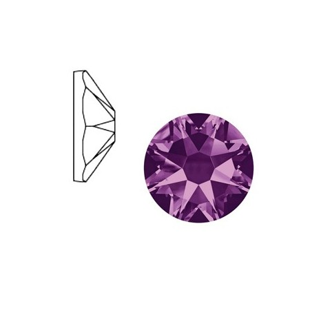 Swarovski Elements 2088-SS34 flatback Xirius Rose Tanzanite purple