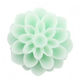 Dahlia bloem kralen 14mm matt Light mint green