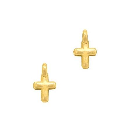 DQ metalen bedels kruisje Goud (nikkelvrij)
