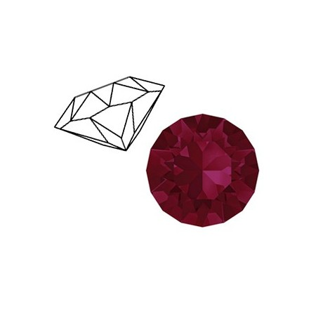 Swarovski SS39 puntsteen Ruby red