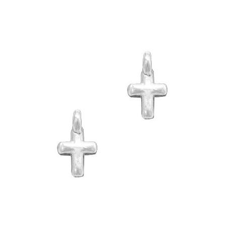 DQ metalen bedels kruisje Antiek zilver (nikkelvrij)