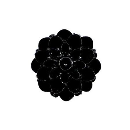 Dahlia bloem kralen 14mm shiny Zwart