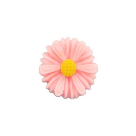 Daisy bloem kralen 13mm Carnation pink