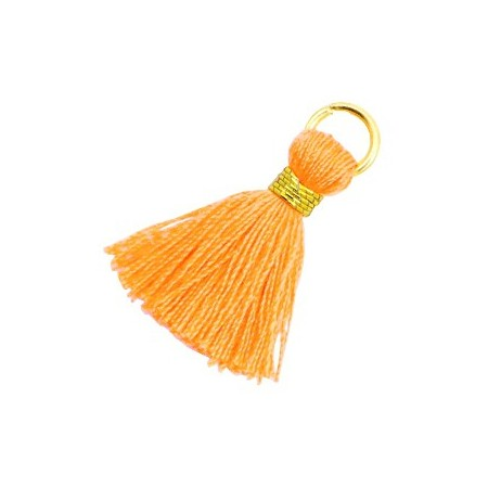 Kwastjes 1.8cm Goud Fire orange