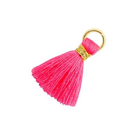 Kwastjes 1.8cm Goud Neon pink