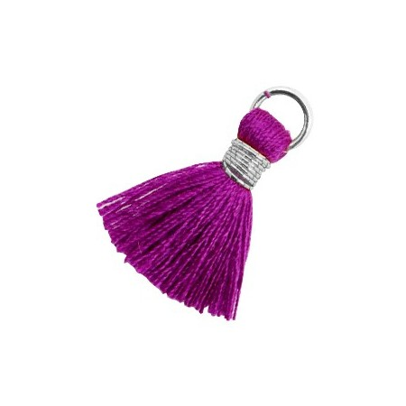 Kwastjes 1.8cm Zilver Electric purple violet