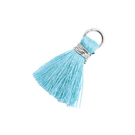 Kwastjes 1.8cm Zilver Bambino blue