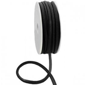 Gestikt elastische lint 5mm Black