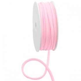Gestikt elastische lint 5mm Light rose