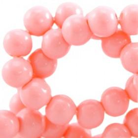Glaskraal 6 mm Paparacha roze