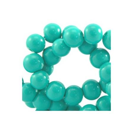 Glaskraal 6 mm Turquoise