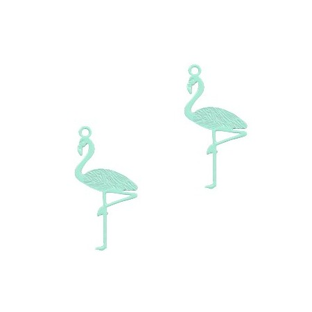 Bohemian hanger flamingo Fresh mint green
