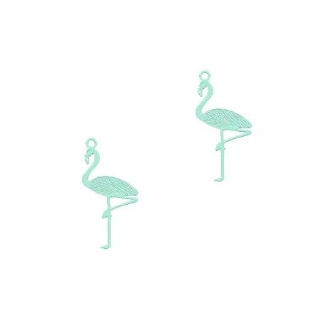 Bohemian hanger flamingo Fresh mint green