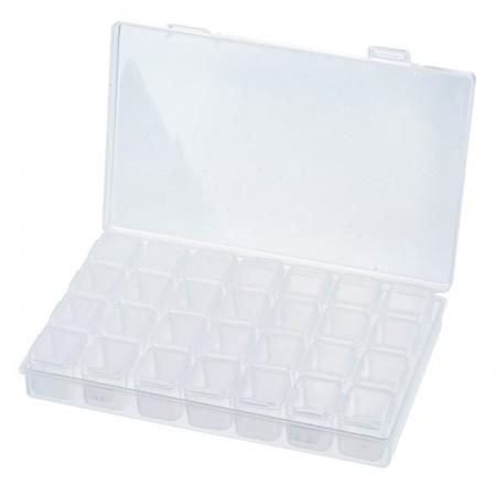 Acryl opbergbox met  7 x 4 vakjes Transparant