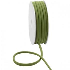 Gestikt elastische lint 5mm Olive green