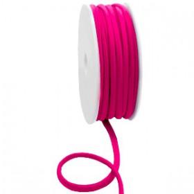 Gestikt elastische lint 5mm Fuchsia pink