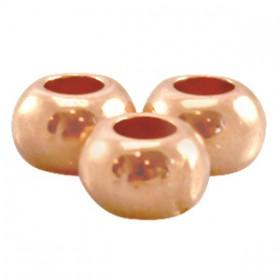 DQ metalen kraal plat 7 x 5 mm Rose goud (nikkelvrij))