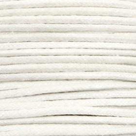 Katoen waxkoord 1.5mm metallic White