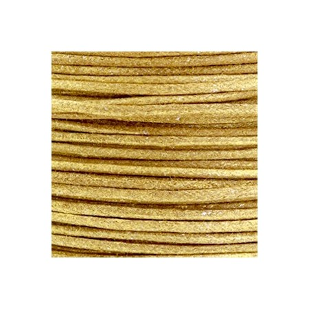 Waxkoord 1.5mm metallic Golden brown
