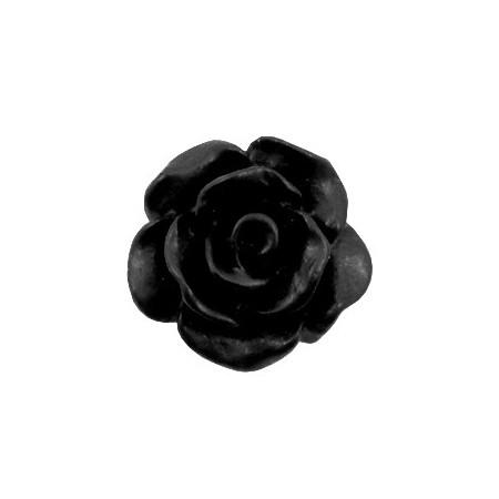 Roosjes kralen 10mm matt Black