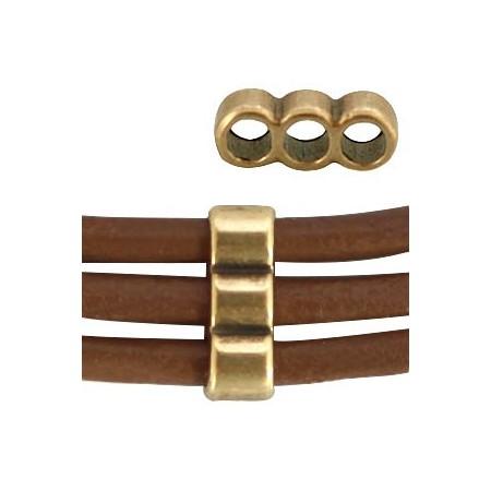 DQ metaal verdeler voor 3mm  Antiek brons (nikkelvrij )