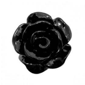 Roosjes kralen 10mm shiny Black