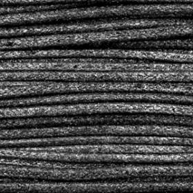 Katoen waxkoord 1mm Metallic Anthracite black