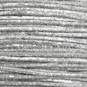 Katoen waxkoord 1mm Metallic Carbon grey