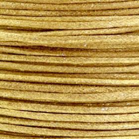 Katoen waxkoord 1mm metallic Golden brown