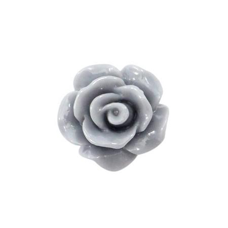 Roosjes kralen 10mm shiny Grey