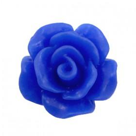 Roosjes kralen 10mm matt Cobalt blue