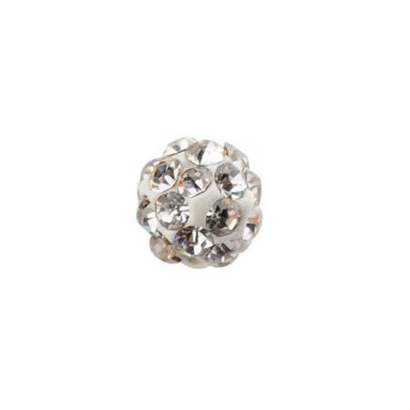 Czech rhinestone beads 6mm White crystal