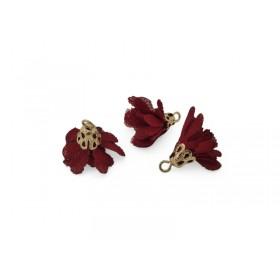 Kwastjes bloem 1.7cm Goud rood