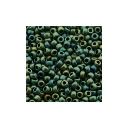 Miyuki Rocailles 8/0 Matt metallic Patina Iris