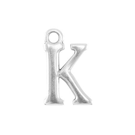 DQ letter bedel K Antiek zilver (nikkelvrij)