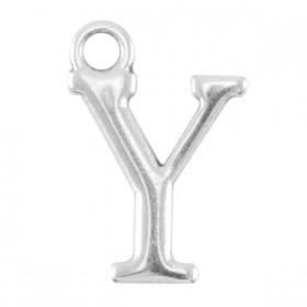 DQ letter bedel Y Antiek zilver (nikkelvrij)