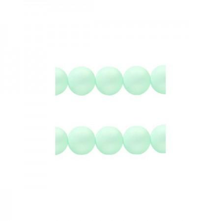Polaris kralen rond 8 mm matt Pastel light turquoise