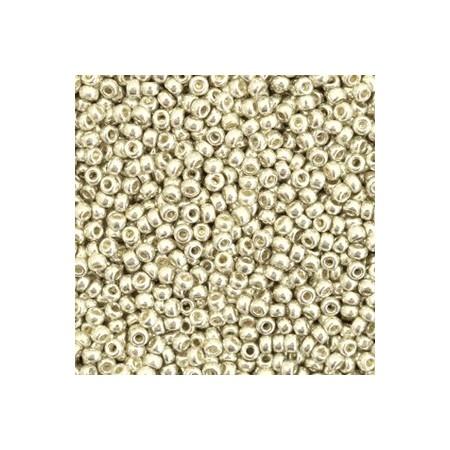 Miyuki Rocailles 11/0 Duracoat galvanized silver