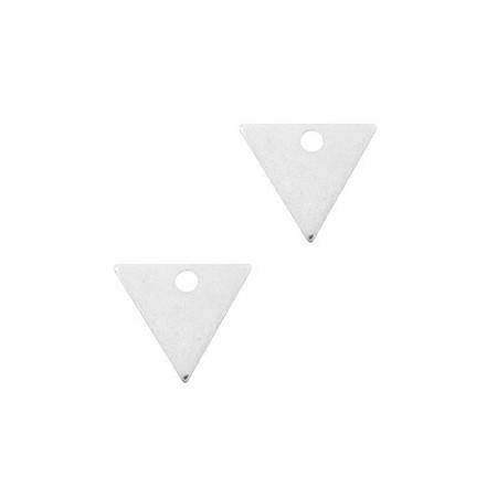 DQ metaal bedel triangle 14x12mm Antiek zilver (nikkelvrij)