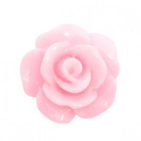 Roosjes kralen 10mm shiny Pink